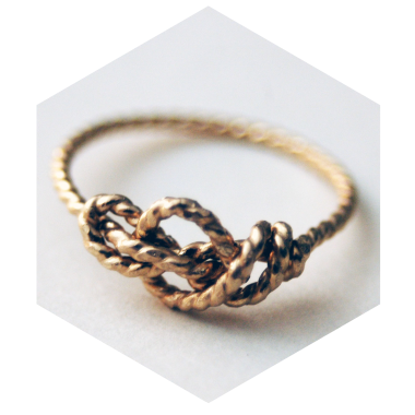 Sailors Love Knot ring