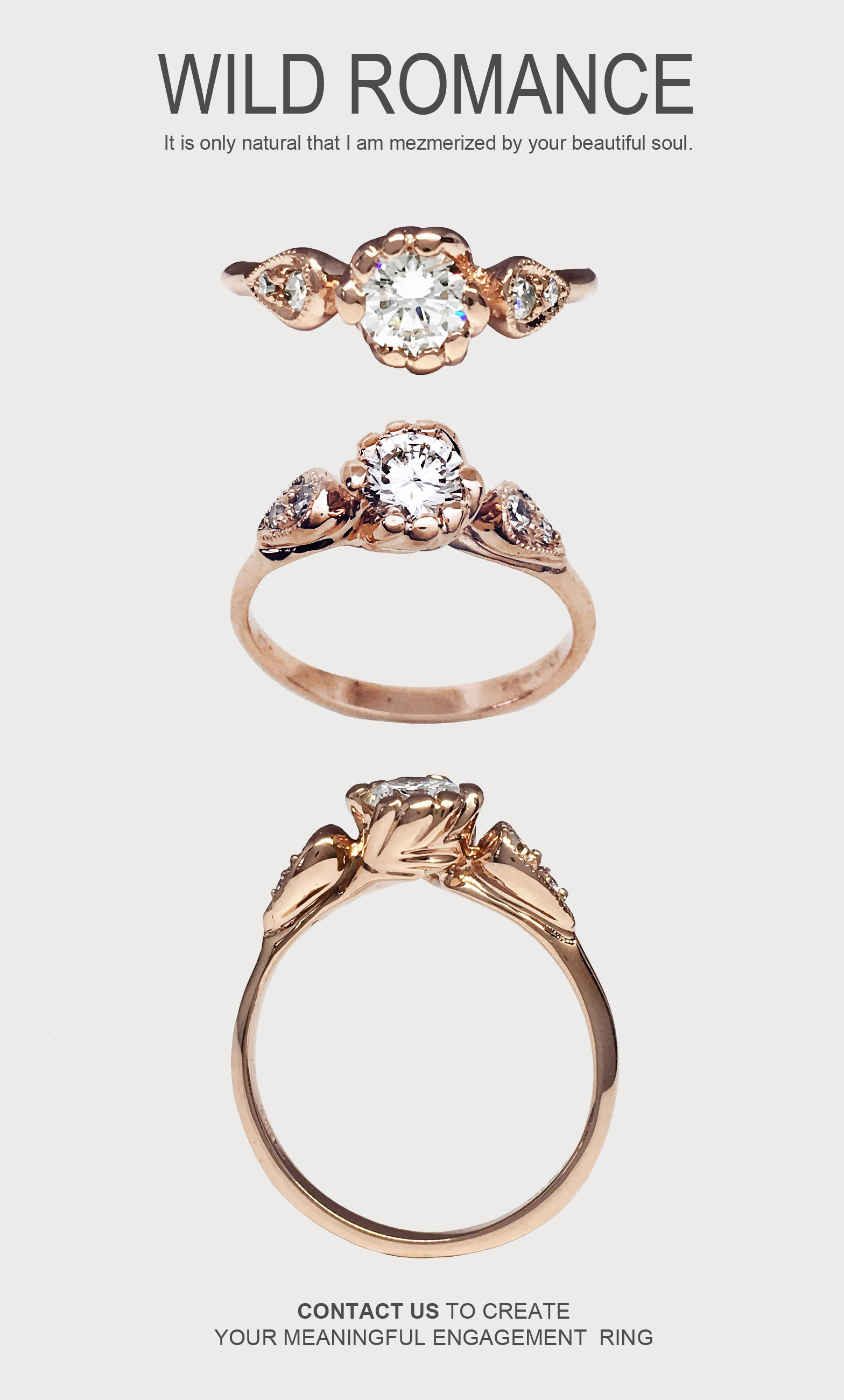 harmony diamond heirloom diamond nature inspired ring